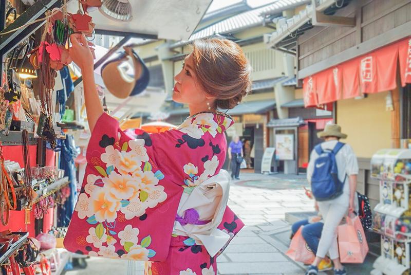 京都の着物ランチ