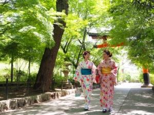 レンタル着物 咲く都プランのお客様写真