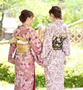 レンタル着物咲く都 人気のレトロ着物咲く都プランお客様写真