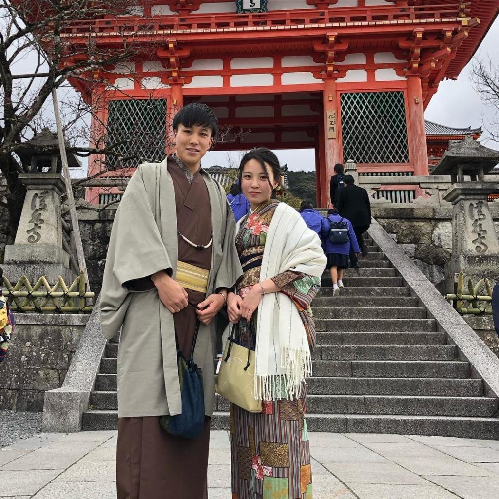 咲く都の着物で清水寺