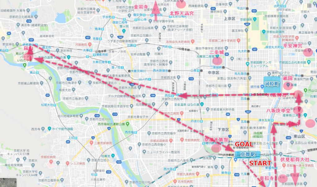 京都観光 効率よく回れるコース