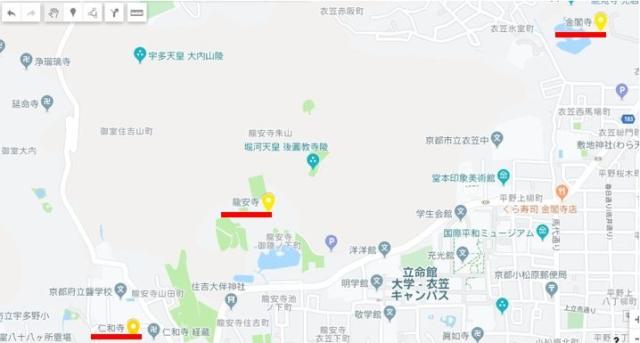 金閣寺マップ