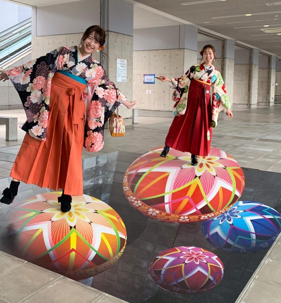 卒業式の代わりに袴で京都散策