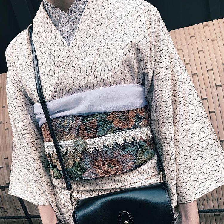 南禅寺での着物散策におすすめのオフホワイトレトロ着物コーデ